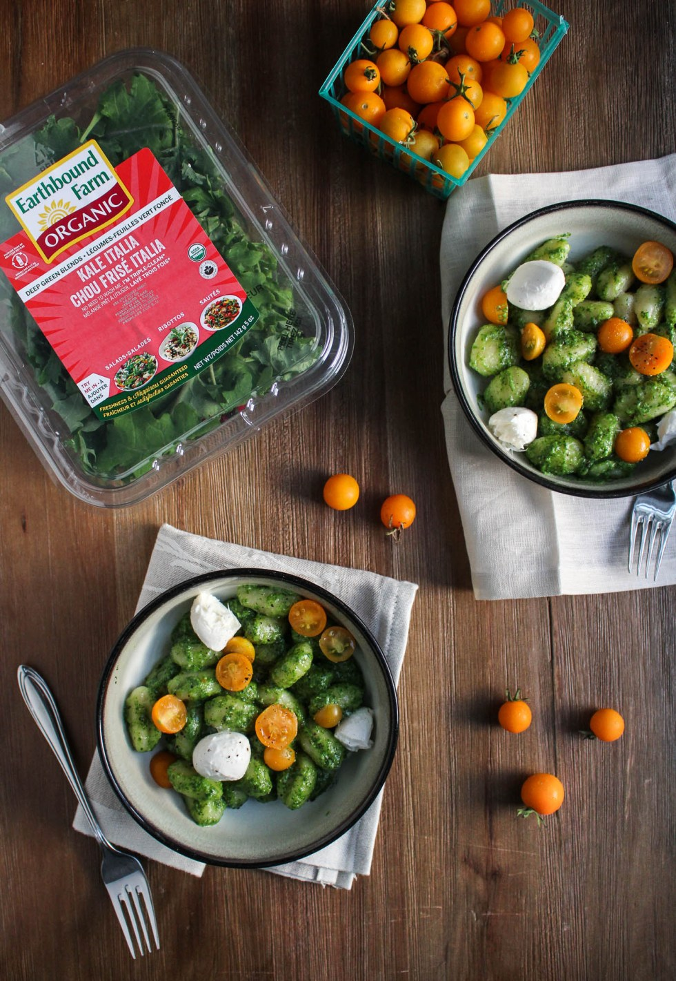 Kale Italia Pesto Gnocchi {Katie at the Kitchen Door}
