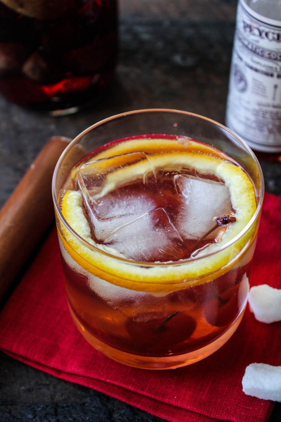 Fig Bourbon Old Fashioned (with Fig-and-Vanilla-Infused Bourbon) | Katie at the Kitchen Door