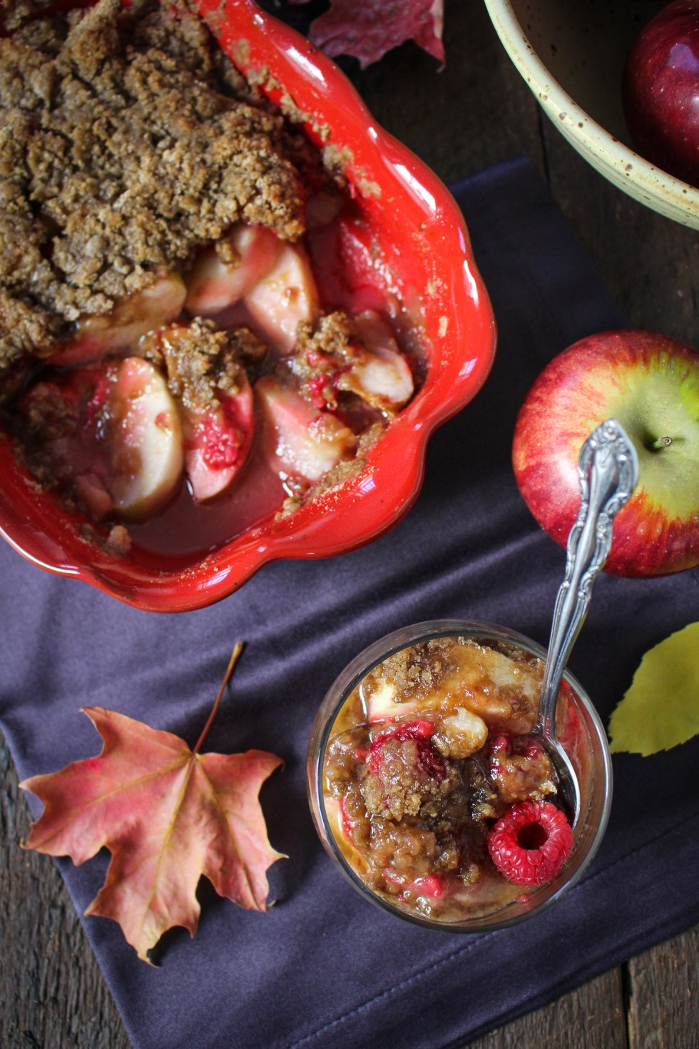 Raspberry Apple Crisp {Katie at the Kitchen Door}
