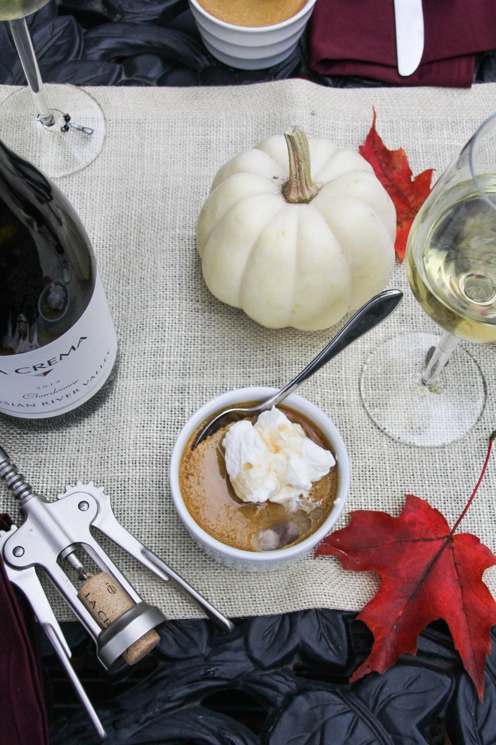 Harvest Pumpkin Dinner: Pumpkin-Vanilla Pot de Creme {Katie at the Kitchen Door}