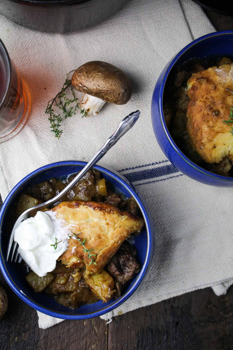 Beef, Mushroom, and Ale Pot Pie {Katie at the Kitchen Door} #sponsored