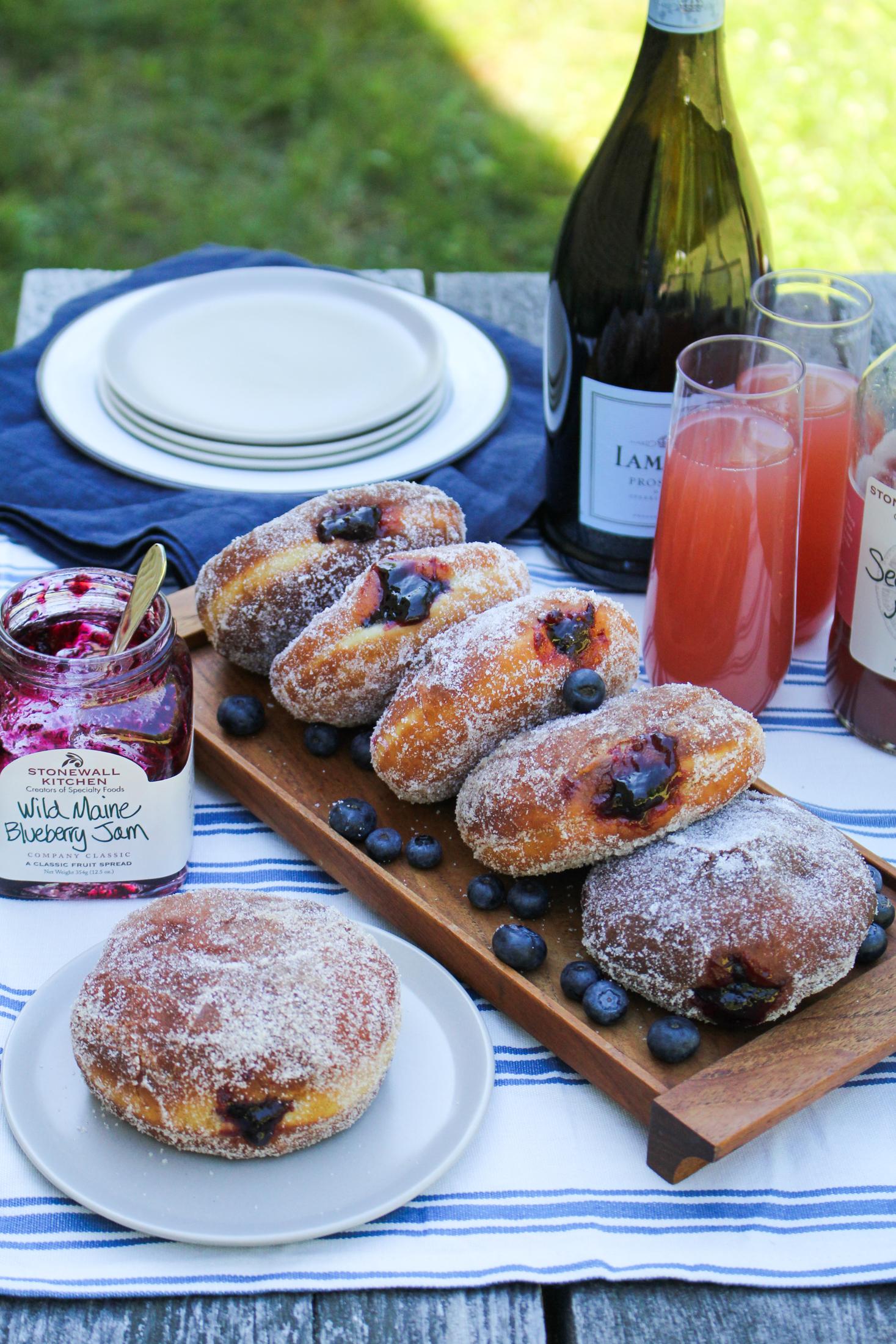 Wild Maine Blueberry Jam Doughnuts Katie At The Kitchen Door Ad