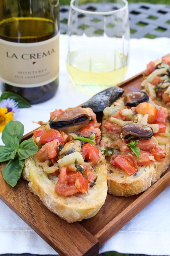Mussels and Fennel Bruschetta {Katie at the Kitchen Door}