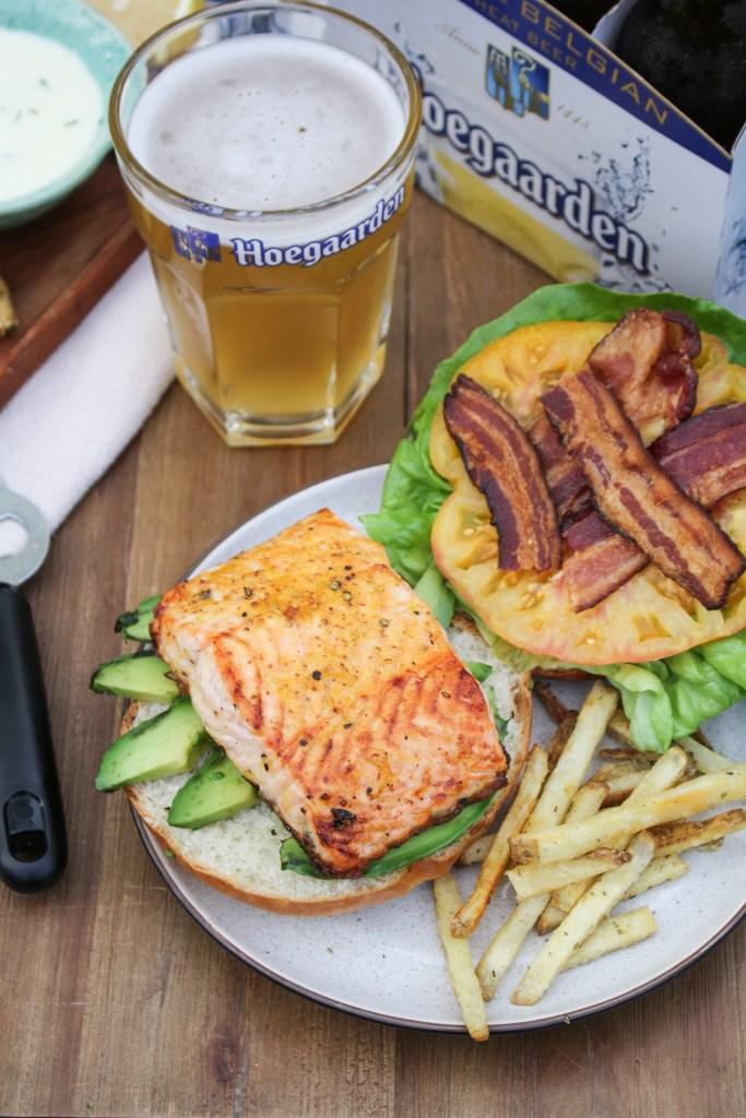 Orange-Glazed Salmon B.L.A.T.s {Katie at the Kitchen Door} #itsWHOgaarden #sponsored