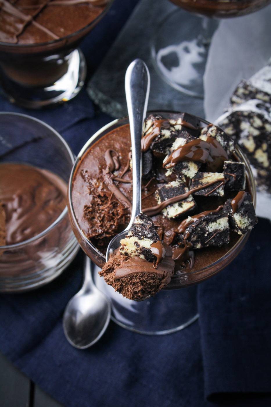 Portuguese Chocolate Mousse with Chocolate Salami {Katie at the Kitchen Door}