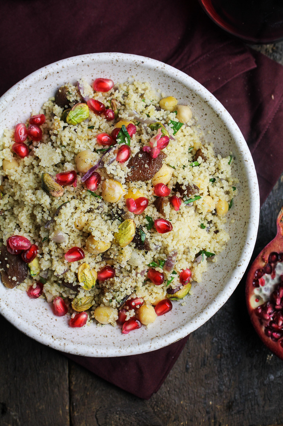 Royal Couscous with Apricots, Chickpeas, and Pistachios {Katie at the Kitchen Door}