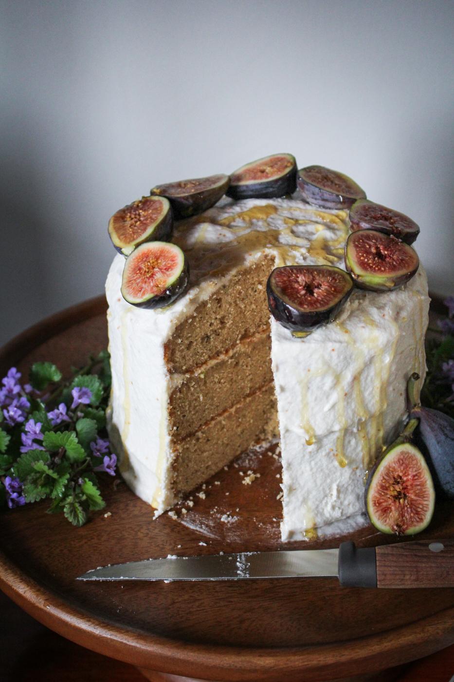 Earl Grey Cake with Fig Jam Buttercream Katie at the Kitchen Door