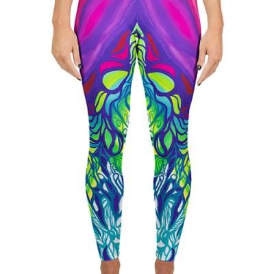 Bright colored yoga legging