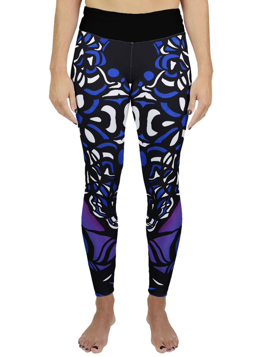 black blue yoga legging