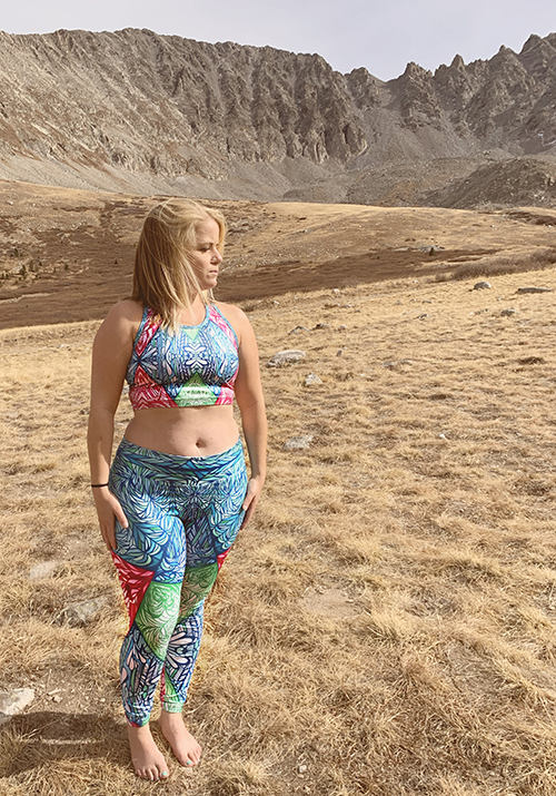 colorful yoga outfit