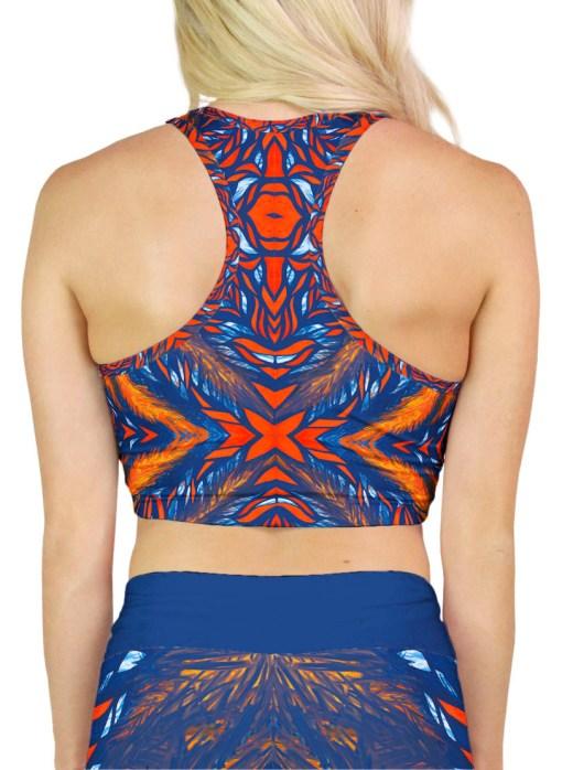 orange and blue crop top