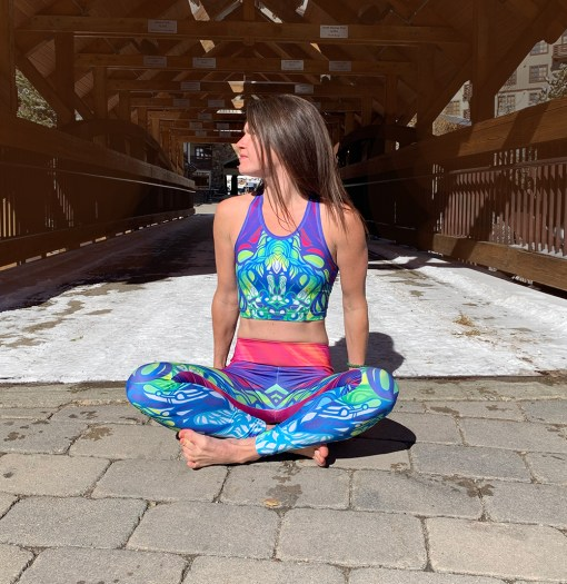 colorful yoga crop top