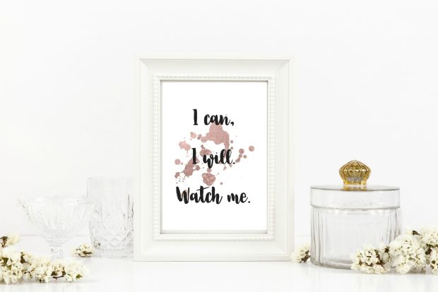 affirmations, i can i will watch me, print, digital download, digital print, social media, katie colella social