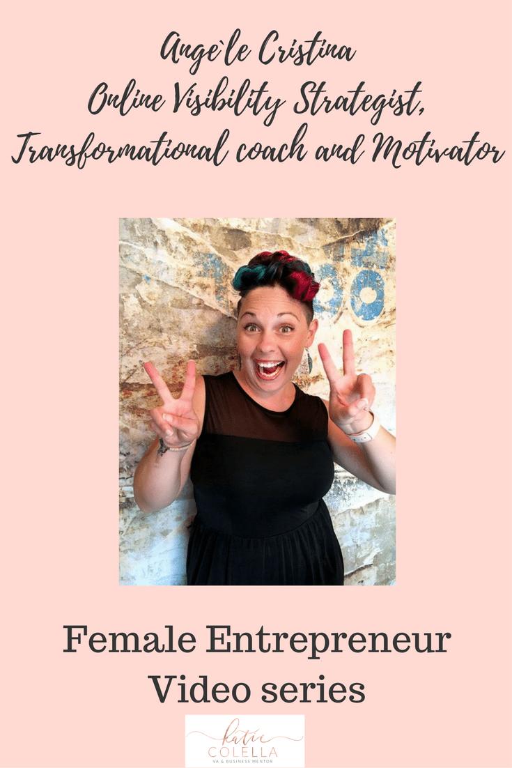 katie colella social, katie colella, female entrepreneur, inspirational., video series, angele crsitina, coach, mentor