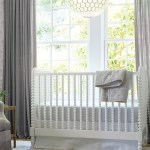 Grey Nursery Gender Neutral White Spindle Crib Linen Curtains Serena Lily Katie Considers