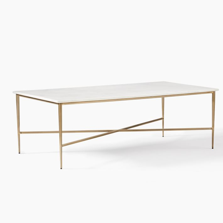neve white marble coffee table west elm