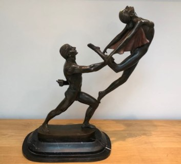 Exquisite large 20th Century Bronze of dancers for sale