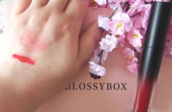 Glossybox June 2016 Review and Unboxing Emite Makeup Lip & Cheek Tint Swatch
