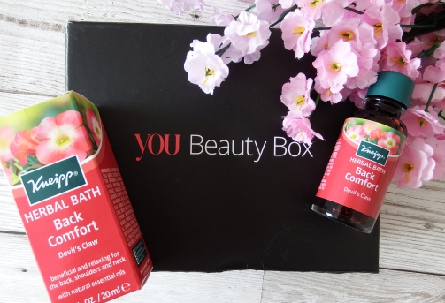 You Beauty Subscription Box June 2016 Review and Unboxing Kneipp Herbal Bath Back Comfort