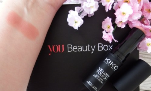 You Beauty Subscription Box June 2016 Review and Unboxing Kiko Velvet Touch Creamy Stick Blush in 07 Swatches