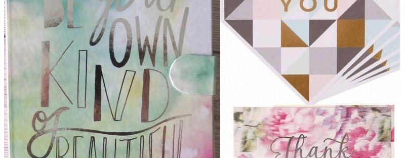 Paperchase Stationery Haul Be Your Own Kind of Beautiful Geo Wedding Thank You Card Floral Wedding Thank You Card