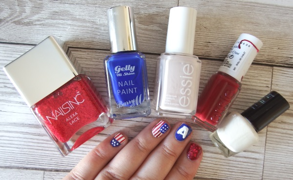Captain America Nails Marvel Superhero Nails Series Nail Art