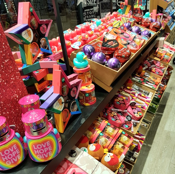 The Body Shop Christmas 2017 Full gift and product range on display in store