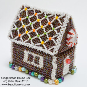 Gingerbread House Beaded Box by Katie Dean