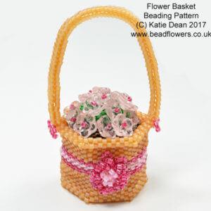 Beaded Flower Basket Spring Beading