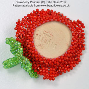 Strawberry Pendant L2 Studios Beads
