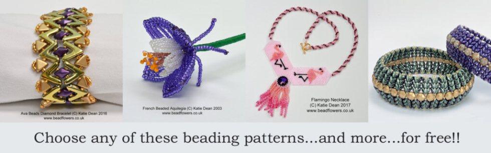 6219471daf13f Free Stuff ~ Beadflowers, Beadwork by Katie Dean