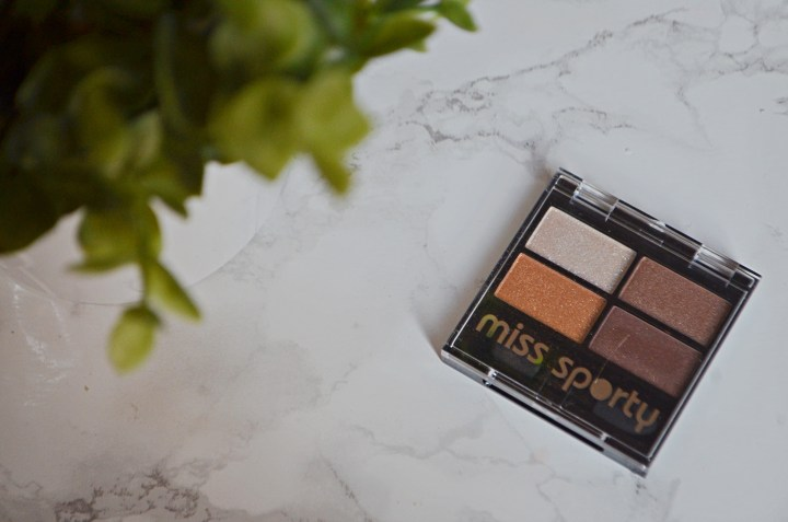 Review | Miss Sporty 100% Golden Eyeshadow Quad