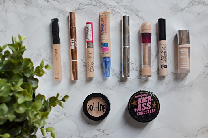 Reviewing 10 Concealers
