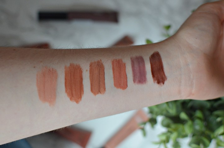 L'Oreal Lip Paint Matte Nudes Swatches