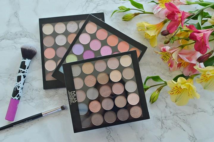 MUA 25 Eyeshadow Palettes