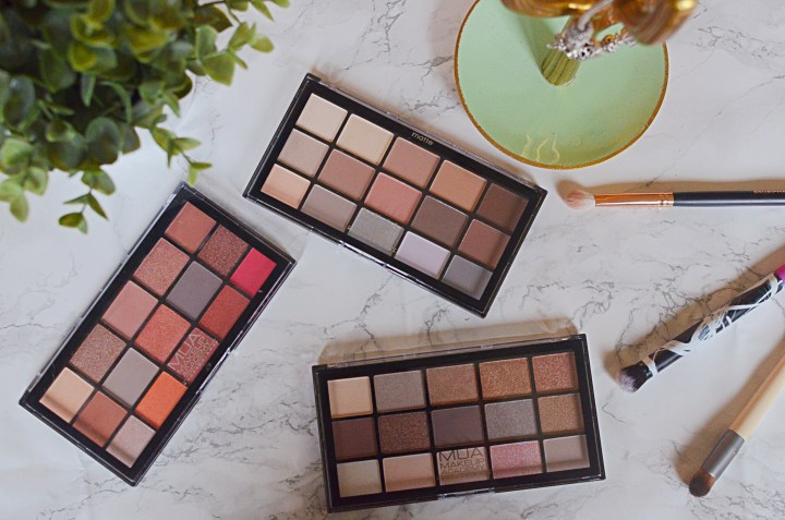 MUA 15 Eyeshadow Palettes Review