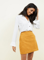 Yellow Corduroy Mini Skirt £17.99