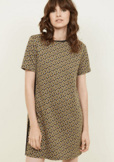 Mustard Geometric Print Tunic Dress £22.99