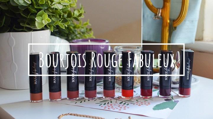 New   Bourjois Rouge Fabuleux Lipsticks