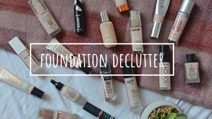 Foundation | Makeup Declutter 18/19