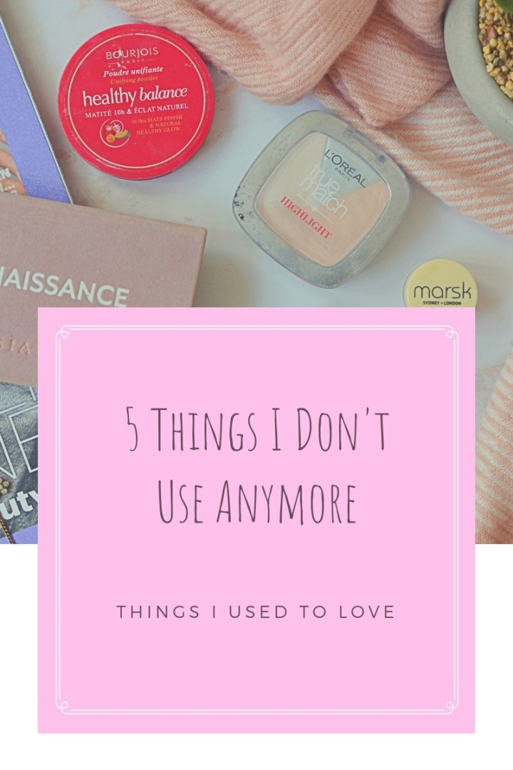 5 Things I Don't Use 1