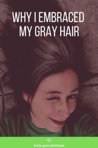 image of woman who embraced gray hair