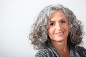 image of attractive gray hair woman how to go gray