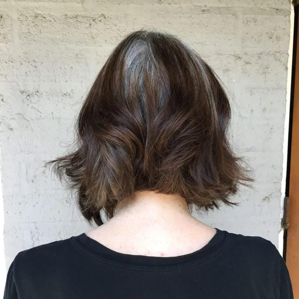 hair back gray roots haircut