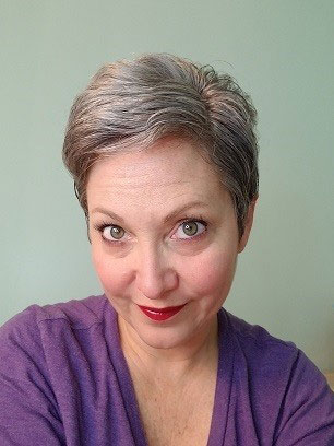 image of woman gray pixie cut