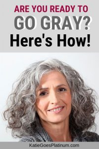 image of how to go gray from colored hair