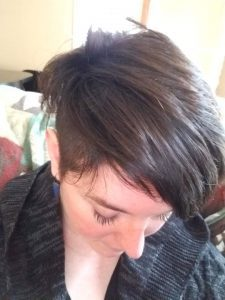 dark hair dye undercut brunette