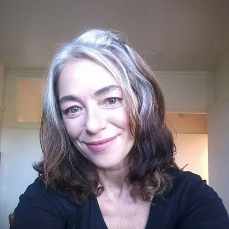 image of woman going gray