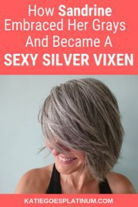 image of woman sexy gray hair
