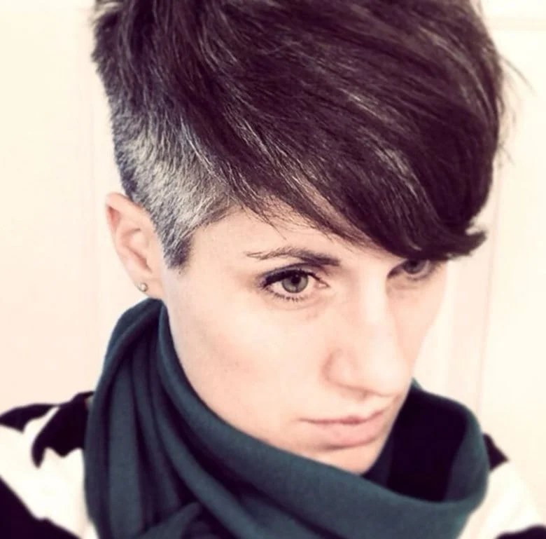 image of woman with fade haircut